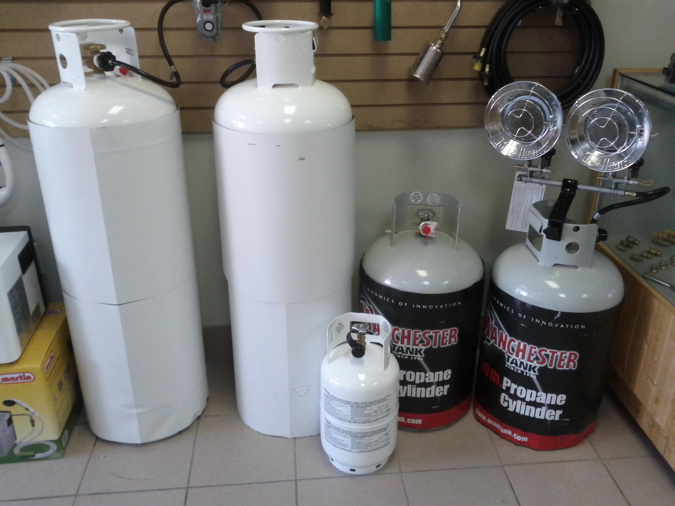 Bonbonne for Chauffe eau piscine propane